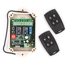 universal garage door opener remote. Solidremote 12V - 24V Secure Wireless RF Remote Control Relay Switch Universal 2-Channel 433MHz Garage Door Opener