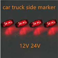 Trailer Lights Not Working On One Side One Piece 12v 24v 2led Side Marker Light Clearance Lamp Car Truck Trailer Tractor Rear Lights The Lowest Price