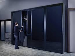 black gl sliding closet doors