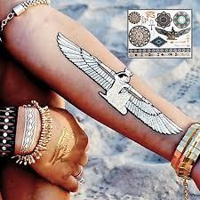 479 Sex Třpytky Zlatý Kov Starověkém Egyptě Totemy Tetování Samolepky Dočasné Tetování 1 Ks