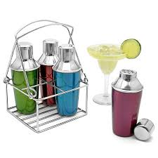 mini cocktail shakers  stainless steel set of