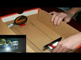how to make a projector without a magnifying glass in english and hindi