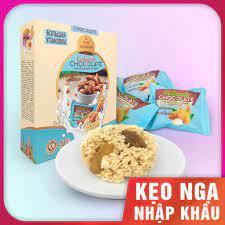 Bánh yến mạch vị hạnh nhân nhập khẩu Nga - Bánh Cobarde Chocolate with  almonds hộp 400g - HSD: 12 tháng tại Hà Nội