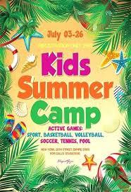 Summer Camp Template Kid Summer Camp Template Design Children