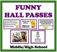 Hall Passes For The Classroom School Classroom High School