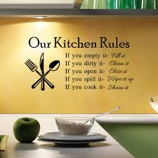 kitchen rules living room kitchen vinyl wall stickers for kids room lettering art quote decals home poster sofa wall decoration in wall stickers from home  on kitchen wall art lettering with kitchen rules living room kitchen vinyl wall stickers for kids room
