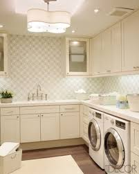 utility room lighting. Beautiful Wallpaper And A Stylish Ceiling Light Make This Sophisticated Laundry Room. Gorgeous Cream Cabinets It Warm Space That Is Still Utility Room Lighting O