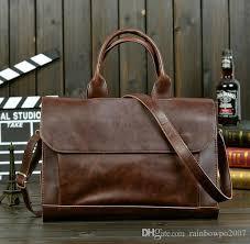 Brand Fashion Leisure <b>Bag Retro Crazy</b> Horse <b>Mens</b> Portable ...
