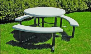 best picnic table round swing out round picnic table barco regarding lifetime round picnic table
