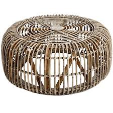 rattan round coffee table undefined