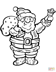 Small Picture Santa Claus Ringing the Bell coloring page Free Printable