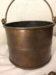 fireplace bucket antique copper fireplace bucket with copper utensils and lions head hooks fireplace log buckets