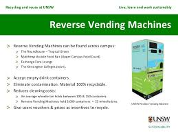 How Do Reverse Vending Machines Work Mesmerizing Waste Recycling And Reuse At UNSW
