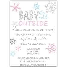 Snowflake Baby Shower Invitations Little Snowflake Baby Shower Invitation Invite Guests To Your