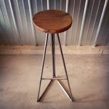 walnut steel extra tall bar stools