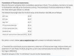 Method Of Statement Enchanting Translation Of Financial Statements Assume That Yo Chegg