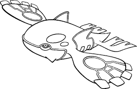 Coloriage Kyogre Pokemon Imprimer