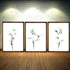 magnolia wall art decor flower modern canvas fl oil painting with framed sets for tree