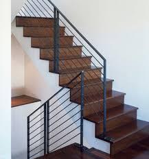 Metal handrails.
