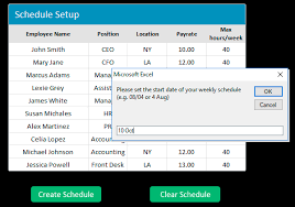 Free Employee Work Schedule Template For Excel Download