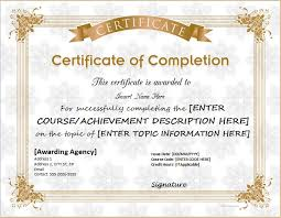 Certificates Of Completion Templates Certificates Of Completion Templates For Ms Word Professional