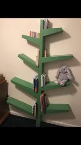 Built my son a tree bookshelf.