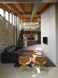 Mezzanine Bedroom Design Wooden Staircase To Access Modern White Mezzanine Bedroom
