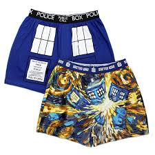 doctor who van gogh tardis boxer briefs 2 pack