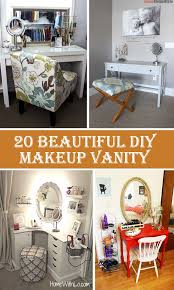 diy makeup vanity table. 20 Beautiful DIY Makeup Vanity Diy Table D