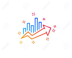 Growth Chart Design Growth Chart Line Icon Discount Sign Sale Diagram Symbol Gradient
