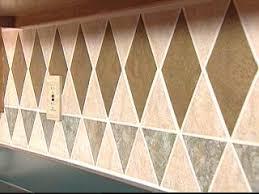Kitchen Backsplash Wallpaper Install A Tile Wallpaper Backsplash Hgtv