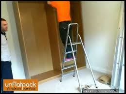 assembly of ikea pax malm sliding door wardrobe assembled from flatpack you