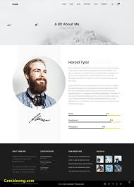 Luxury Resume Template Wordpress Best Templates