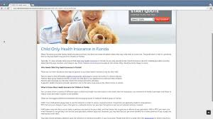 child only health insurance florida