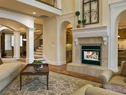 smlf two sided stone fireplace design
