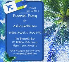 erfly farewell or retirement party invitation template