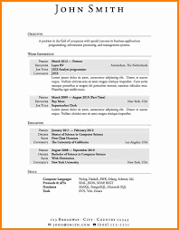 student resume template microsoft wordresume template basic sample with j2ee analyst programmer for business applications programming positionjpg student resume template microsoft word