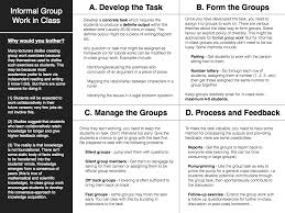 Philosophical Disquisitions Informal Group Work In Class Four Tips