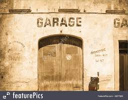 architectural details old garage door in used retro style