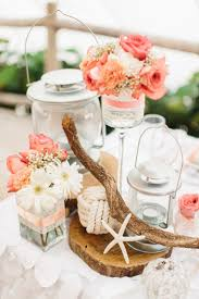 Admirable Rustic Coral Pink Roses Wedding Centerpieces Together With Beach  Wedding Beach Wedding Centerpieces Deer Pearl