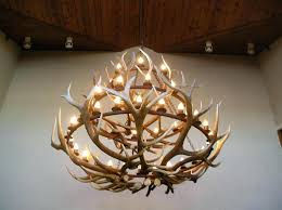 attractive deer antler chandelier
