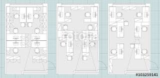 office furniture plans. Standard Office Furniture Symbols Set Used In Architecture Plans, Planning Icon Set, Graphic Plans U