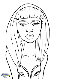 Small Picture Nicki Minaj Coloring Page Pages Original For glumme
