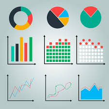 Vector Graphs And Charts Graphs Charts Line Graph Pie Chart Round Chart Royalty