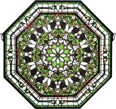 octagon stained glass front hall fl patina stained front hall fl patina stained glass window loading