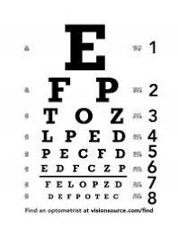 Dr Office Eye Chart Eye Chart Printed For Dramatic Play Dr Office Dramatic