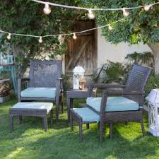coral coast brisbane all weather wicker 5 piece patio chat set outdoor furniture for small spaces e39 furniture
