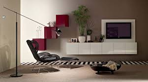 tv lounge furniture. Futuristic Home Interior Design With White Tv Vanity And Nice Looking Black Lounge Chair Also Stripped Rug Decor Idea Furniture R