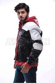 hood leather jacket hot 50