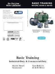 basic training for electrical motors leeson electric